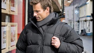 Black Puffer Jacket Male - PPE Workwear & Staff Uniforms