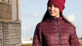 Wine Puffer Jacket Female - Logo or Embroidered PPE Workwear & Staff Uniforms