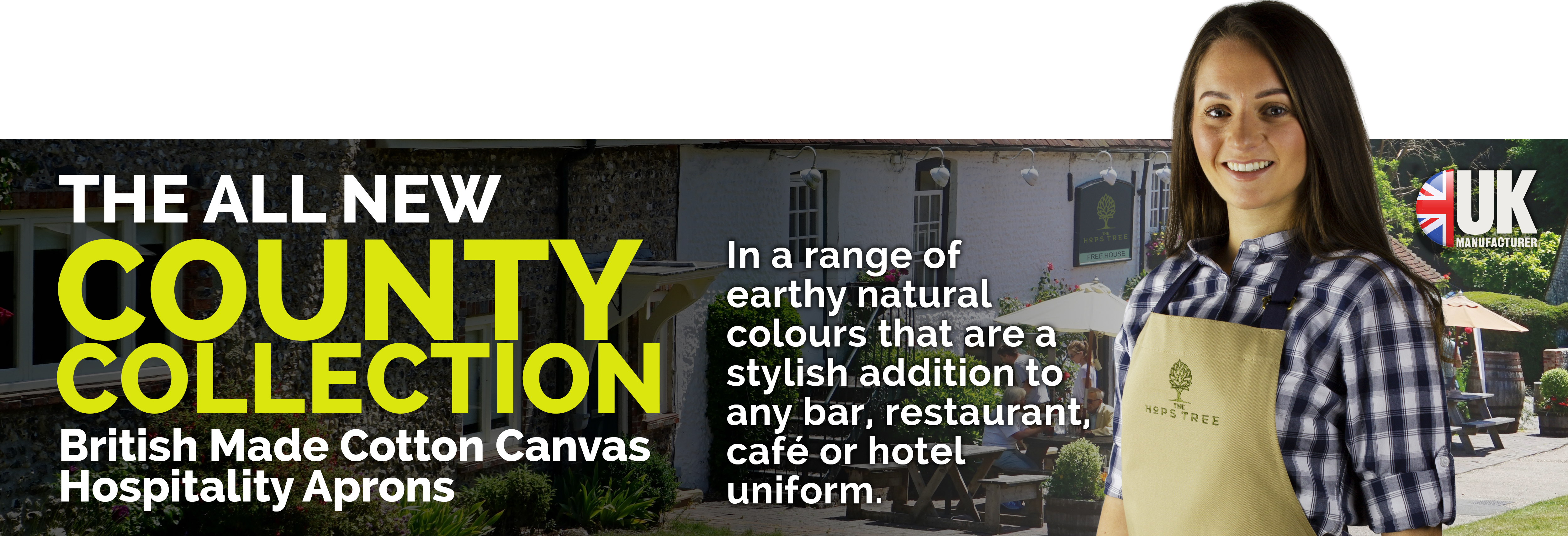 County Collection - British Made Cotton Canvas Aprons