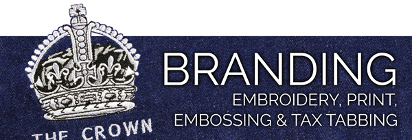 Branding, Embroidery, Print, Emossing & Tax Tabbing